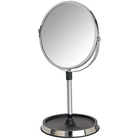 Wenko, Specchio da trucco con base di appoggio, Nero