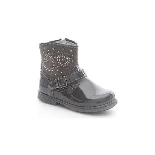 Nero Giardini Junior , Chaussures premiers pas pour bébé (fille) Gris Grigio - Gris - Grigio (Venus Carbone), 24 EU