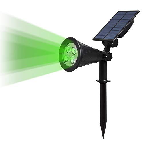 T-SUN Spot Leuchte Solarleuchten, 2-in1 Gartenleuchte, 200 Lummen Wasserdicht LED Solarleuchte, Drahtlos Solarbetriebene Sicherheit Außenstrahler mit Erdspieß für die Hinterhöfe, Gärten, Rasen, Outdoor Landscape usw (Vert)