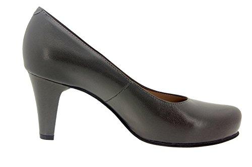 Scarpe donna comfort pelle Piesanto 5225 scarpe di sera comfort larghezza speciale Gris