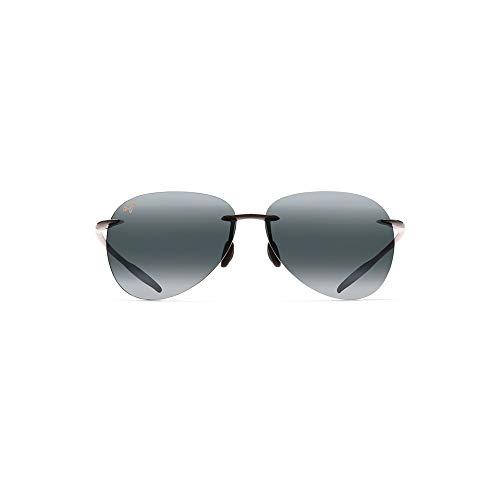 Preisvergleich Produktbild Maui Jim 421-02 Schwarz glänzend Sugar Beach Aviator Sunglasses Polarised Golf, Running, Driving Lens Category 3