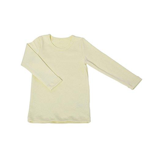 Baby Kinder Mädchen Jungen Jumper Pullover Pulli Sweatshirt Langarm-Shirt Sweater | PREMIUM QUALITÄT: 100% GOTS-zertifizierte Bio-Baumwolle | Fair-Trade: Produktion in der EU, Gelb, Größe: 80