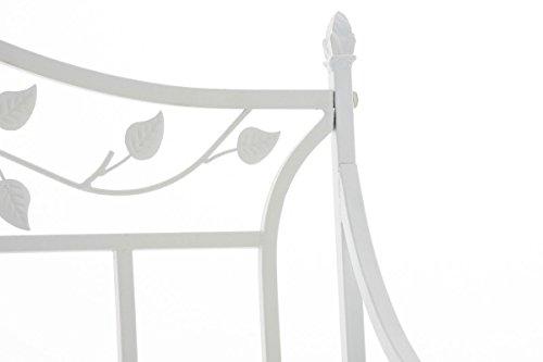 CLP Gartenbank ABIONA im Landhausstil, Eisen lackiert (Metall) ca 110 x 50 cm Weiß - 4
