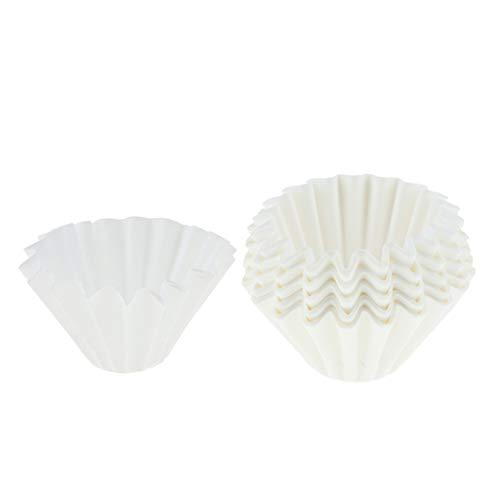 Baoblaze 50 Stücke Weiß Einweg Korbfilter Kaffeefilter Filterpapier Ersatz für Dauerfilter - Größe_2