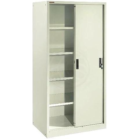 Cablematic - Armario archivador de oficina metálico con puertas correderas 900x2000x400 mm de