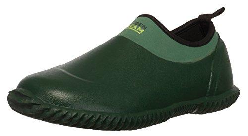 BRANDSSELLER Herren Damen Gartenschuh - Garden Dream - Unisex Naturkautschuk/Neopren Wasserdicht Boots Kurzschaft Regenschuh Arbeitsschuh Farbe: Grün - Größe: 42