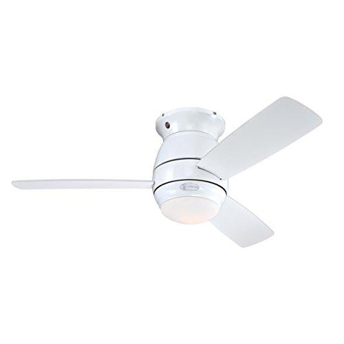 72180 Ventilatore da Soffitto Bianco per Interni da 122 cm Halley, Kit di Luce con Vetro Smerigliato Opale