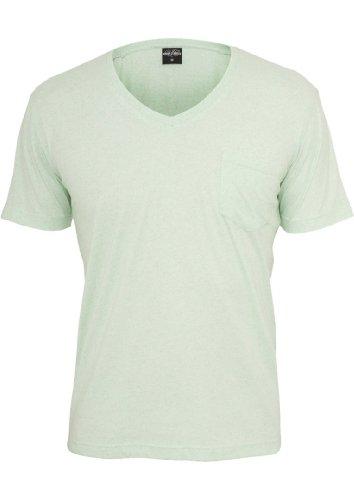 Urban Classics Herren T-Shirt Grün - Mint/Wht