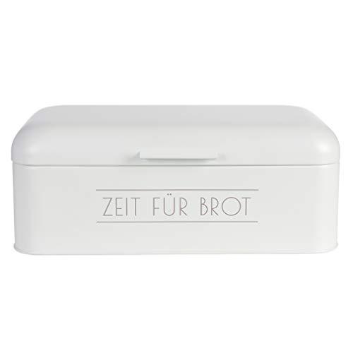 Rose Home Fashion Brotkasten aus Edelstahl, Brotdose, Brotbox, 42.5×23×16.5 cm,LFGB Geprüft, Weiß