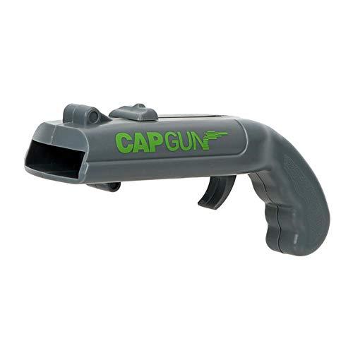 DACCU Dosenöffner Frühling Cap Katapult Launcher Gun Form Stab-Werkzeug Getränk Öffnungs Shooter Bier Flaschenöffner Kreative, Grau