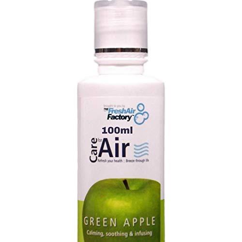 Duft für Luftreiniger - CareforAir Grüner Apfel Essenz 100 mL - Zu reinigen, knackig und erfrischend Fruchtiger Duft -entspannende Und Beruhigende - lindert Kopfschmerzen und Migräne - VERWENDEN SIE IN REVITALIZERS, IONISATOREN, LUFTBEFEUCHTER - 100% Produkt Zufriedenheitsgarantie