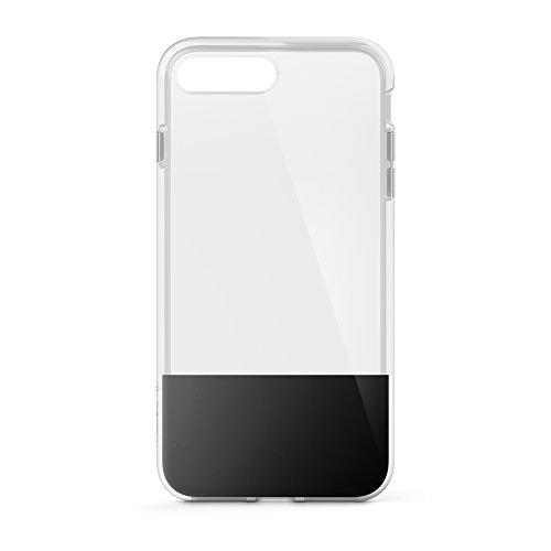 Belkin SheerForce Schutzhülle (TPU, Sturzsicherheit, Anschlüsse frei zugänglich, geeignet für iPhone 8Plus/7Plus)schwarz