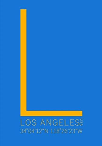 Los Angeles Minimalist Typography Notebook: 7 x 10 Inch Notebook/Journal with the University of California at Los Angeles (UCLA) Coordinates