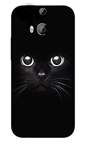 FINOO | HTC One M8 Hardcase Handy-Hülle | Transparente Hart-Back Cover Schale mit Motiv | Tasche Case mit Ultra Slim Rundum-schutz | stoßfestes dünnes Bumper Etui | Schwarze