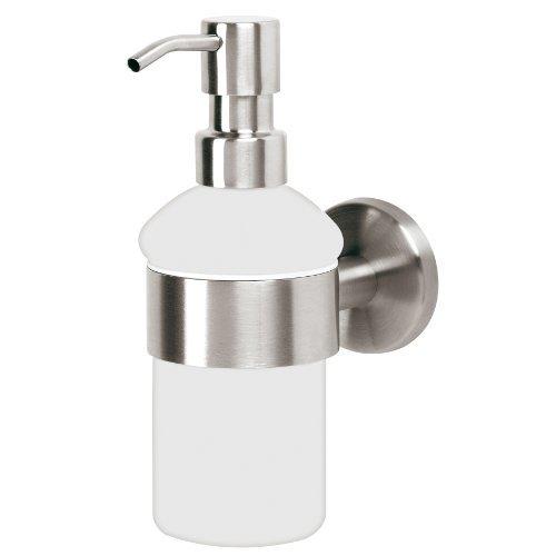 bremermann® serie bagno PIAZZA - dosatore per sapone in vetro & acciaio inox satinato