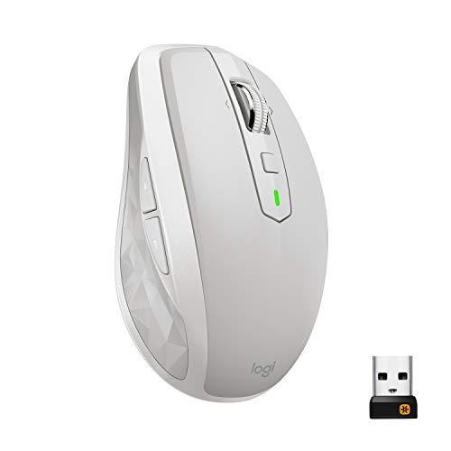 Logitech MX Anywhere 2S kabellose Maus (Bluetooth für Mac und Windows) hellgrau