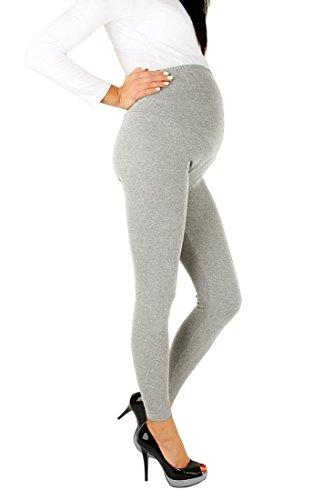 futuro fashion Leggings de maternité pleine longueur cheville Leggings coton très à l'aise toutes les tailles Cendre