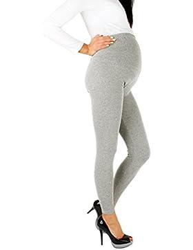 Futuro Fashion - Leggings premaman, lunghi fino alle caviglie, in cotone molto confortevole, taglia unica
