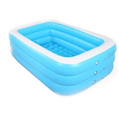 BYCDD Aufblasbare Badewanne Erwachsene FüR Dusche, Tragbar Faltbare Sicherheitsbad Reise Becken Dusche Baby Schwimmbecken Umweltschutz PVC Badefass,Blue_130X90X48CM