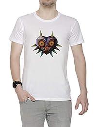 Erido Labios de Máscara - Majora Hombre Camiseta Cuello Redondo Blanco Manga Corta Todos Los Tamaños
