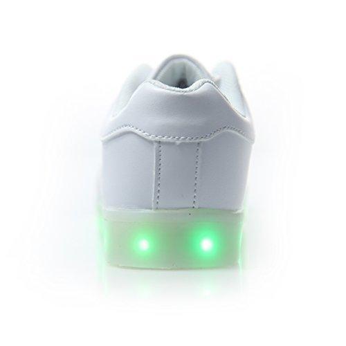 f751b4a9 ... Color USB Carga LED Zapatillas Luces Luminosos Zapatillas Led Deportivos  para Hombres Mujeres (Elegir 1 Tamaño Más Grande) (37 EU, Blanco 1) ·  Anterior ...