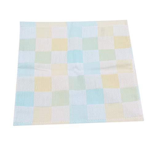 Ellepigy Weiche Baumwolle Kleines Quadrat Gesicht Handtuch Baby Super Saugfähigen Waschlappen Kinder Niedlichen Handtuch (Grün)