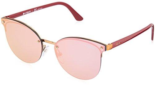 Vogue Eyewear Damen 0VO4089S 50754Z 60 Sonnenbrille, Brushed Light Pink Gold/Greymirrorrosegold