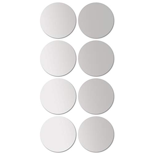 Juego de baldosas de espejo redondo de 8 cada uno Ø20cm azulejo de espejo azulejo espejo espejo decorativo...