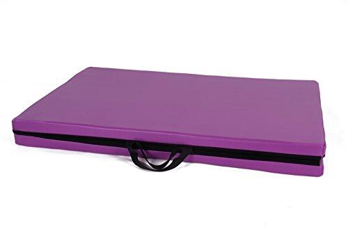Goutime klappbare turnmatte,180x60x4cm Blau Weichbodenmatte für Zuhause.