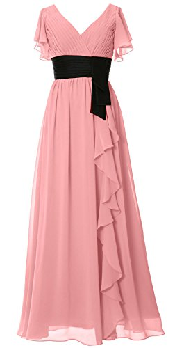 MACloth - Robe - Trapèze - Manches Courtes - Femme Blush Pink