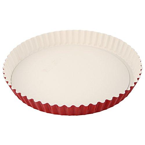 Patisse Quicheform in edlem rot-weiß-Ton mit keramischer Antihaftbeschichtung 24 cm