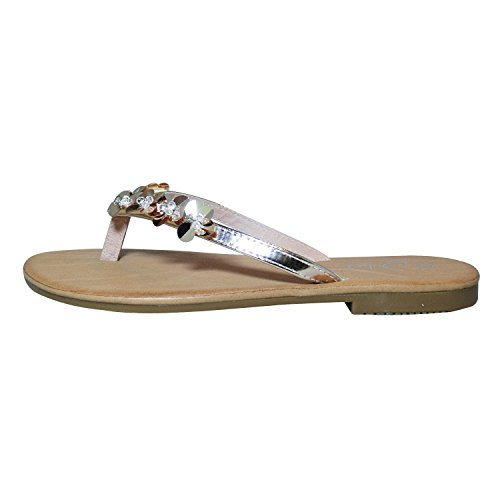 Juliet , Chaussons Mules femme Champagne