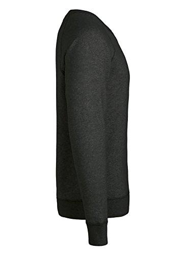 Herren Sweatshirt aus Bio-Baumwolle Mix mit 85% Baumwolle und 15% Polyester, Herren Bio Pullover, Pullover Bio, Herren Bio Sweatshirt,Sweatshirt Baumwolle (Bio) Schwarzmeliert