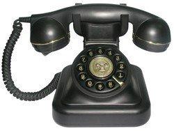 Brondi Vintage 20 Telefono Fisso, Nero