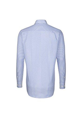 Michaelax-Fashion-Trade -  Camicia classiche  - Basic - Con bottoni  - Maniche lunghe  - Uomo Streifen blau/weiß (18)