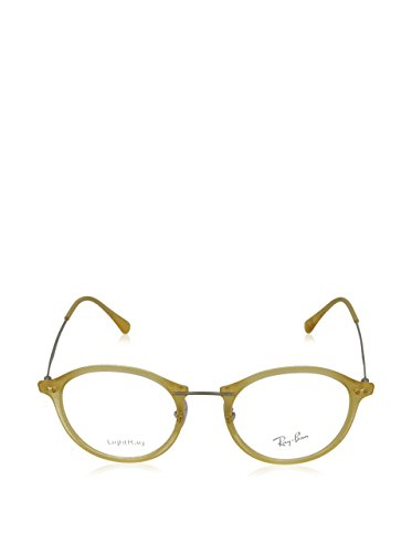 Ray Ban Optical Montures de lunettes RX7073 Shiny Black, 47mm 5589: Matte Yellow