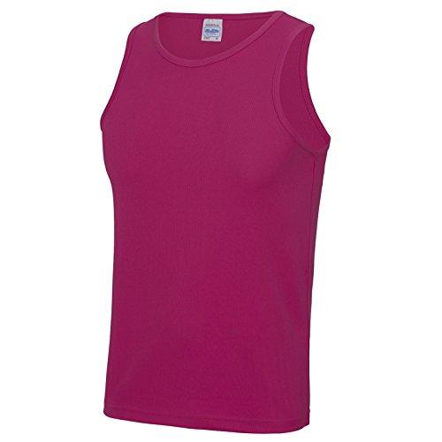 AWDis Herren Modern T-Shirt Hot Pink