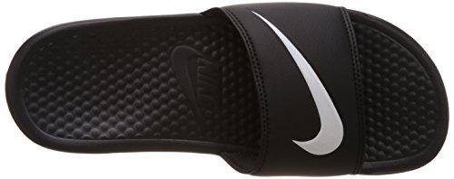 NikeBenassi Swoosh - Scarpe da Spiaggia e Piscina uomo Nero (Black (Black/White 011)Black/White 011)
