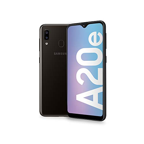 "Samsung Galaxy A20e (2019) Smartphone, Black, Display 5.8"" HD+, 32 GB Espandibili, Dual Sim [Versione Italiana]"