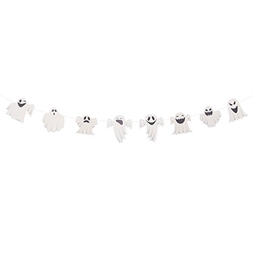 BESTOYARD Halloween Bunting Banner Nette Ghost Streamer Garland Fahnen Papier Kette Halloween Dekoration Bar Haus Party Dekorative Hängen Ornamente 3 Mt
