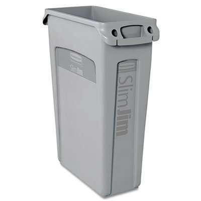 slim-jim-receptacle-w-venting-channels-rectangular-plastic-23gal-g-by-rubbermaid