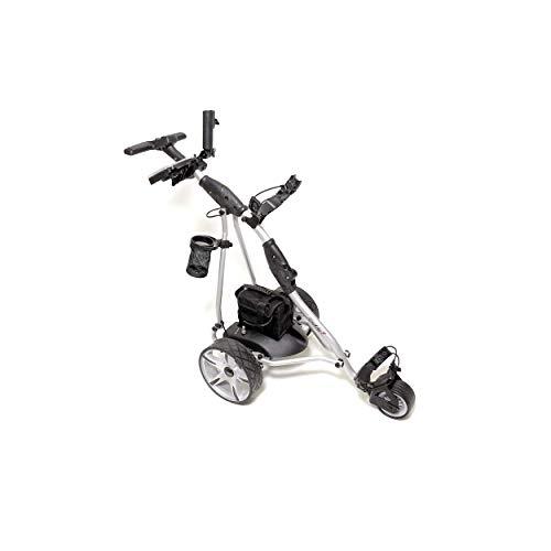 CADDYONE Elektro Golf Trolley 400 Silber 1 x 300 W Motor Bleigel Akku Zubehör