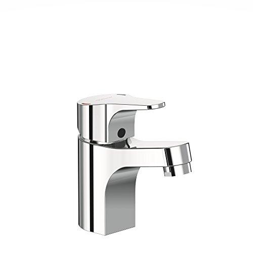 Vidima sevanext, stehend Einhebelmischer für Waschbecken mit Kunststoff Push wastle und Click Technologie und firmaflow, Hebel