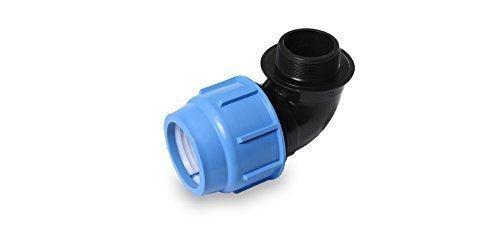 PP Coude Filetage intérieur 16,20,25,32,40,50,63 mm 16 bar DVGW certifié Tube PE Connecteur Divers vis Angle Jardin Irrigation - 40 mm x 1 1/2 \