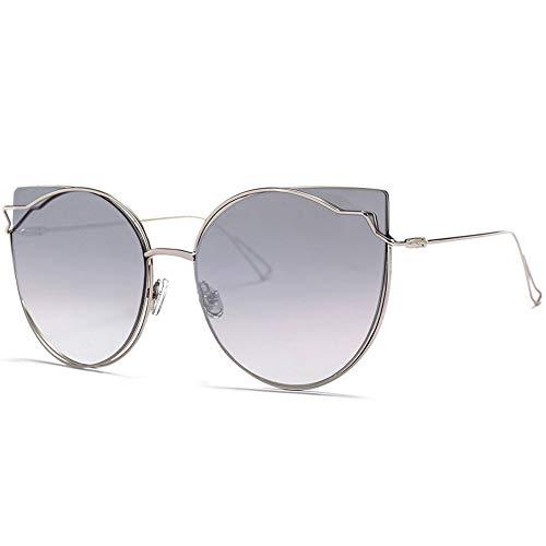 Farbe Sonnenbrille Weiblichen Großen Rahmen Anti-UV-Anti-Glare, Geeignet Für Dekorative Reisen Fahren, Verweigert Eindruck Und Komfortabel Zu Tragen. (Color : F)