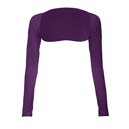 COZOCO Damenmode Einteilige Ärmel Armabdeckung Shrug Muslim Langarm Für Frauen Robe tragen(Purple,one Size) -