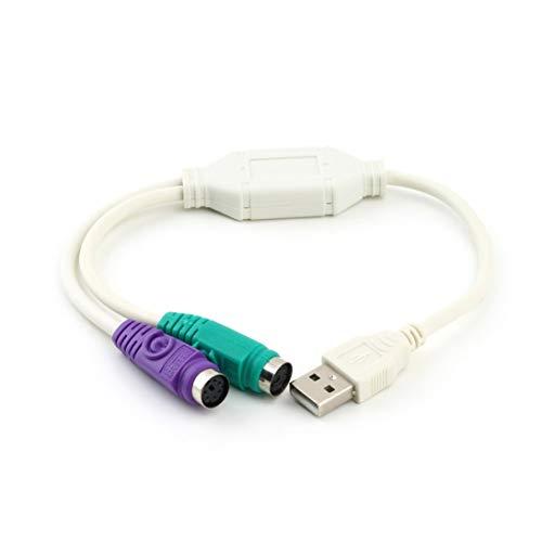 Ps2-maus-tastatur-monitor-kabel (WEIHAN USB-Stecker auf PS2-Buchse Kabeladapter Konverter Für Tastatur zu Maus Plug & Play Unterstützt Zwei PS2-Tastaturen oder Zwei PS2-Mäuse)