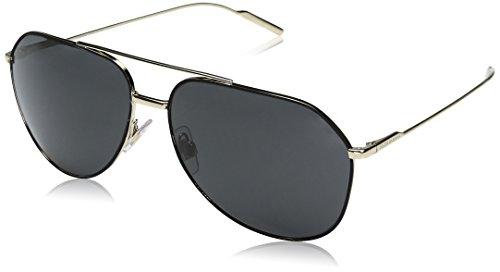 Dolce & Gabbana Herren 0DG2166 130587 61 Sonnenbrille, Schwarz (Black/Pale Gold/Grey),