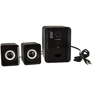 Zinq Technologies MELOS 2.1 Channel Portable Laptop/Desktop USB Powered Multi-Media Speaker with AUX Input (Black)