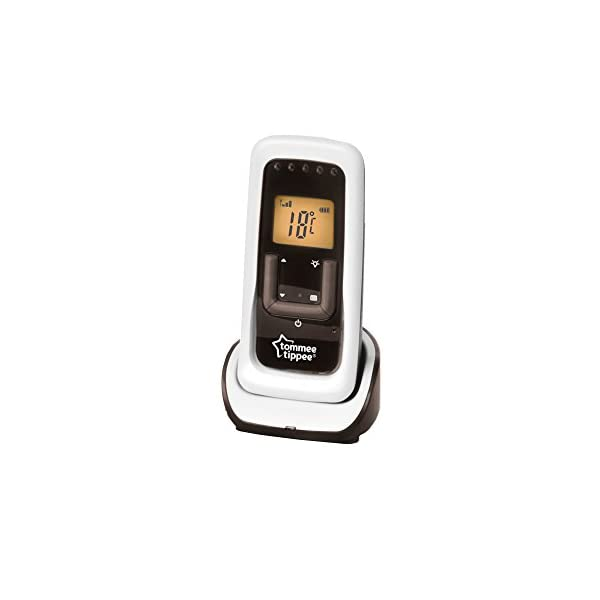 Tommee Tippee Digital Sound Monitor Tommee Tippee Digital Enhanced Cordless Technology (DECT) offers interference-free monitoring Rechargeable docking station for flexible and portable use Easy-to-read LCD screen with room temperature displayed on both units 4